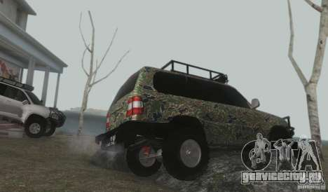 Toyota Land Cruiser 100 Off Road для GTA San Andreas вид изнутри