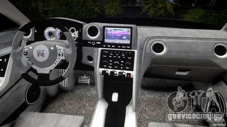Nissan GTR R35 v1.0 для GTA 4 вид сверху