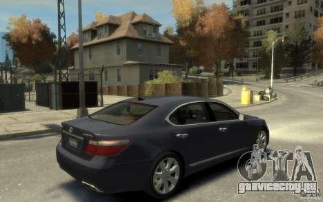 Lexus LS 600h L v1.1 для GTA 4 вид справа