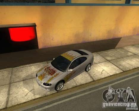 Vauxhall Monaro для GTA San Andreas вид сбоку
