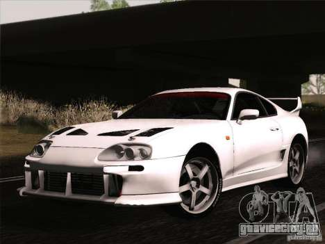 Toyota Supra TRD3000GT v2 для GTA San Andreas вид изнутри