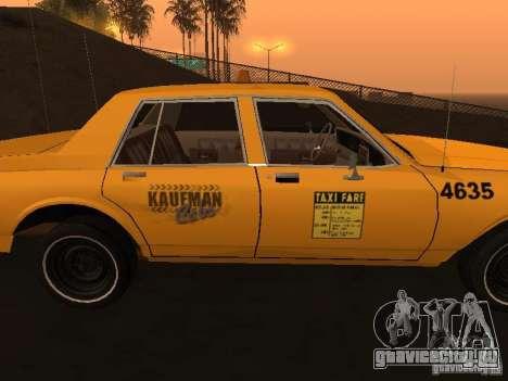 Chevrolet Caprice 1986 Taxi для GTA San Andreas вид сзади слева