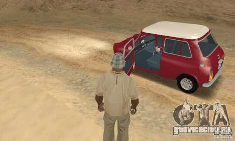 Mini Cooper S для GTA San Andreas вид сзади