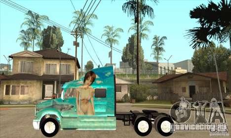 Peterbilt 387 скин 4 для GTA San Andreas вид слева