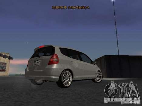 Honda Fit для GTA San Andreas вид справа