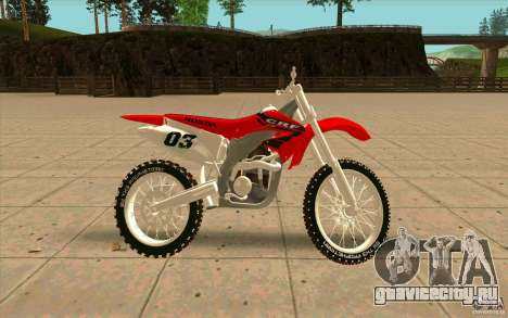 Honda CRF450R Extreme Edition FINAL для GTA San Andreas вид слева