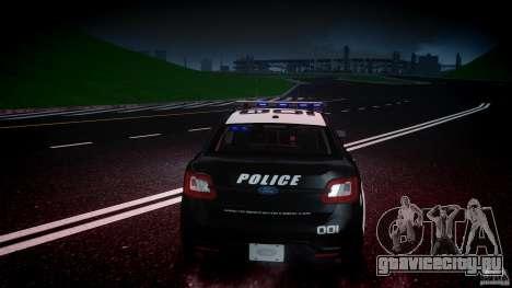 Ford Taurus Police Interceptor 2011 [ELS] для GTA 4 двигатель