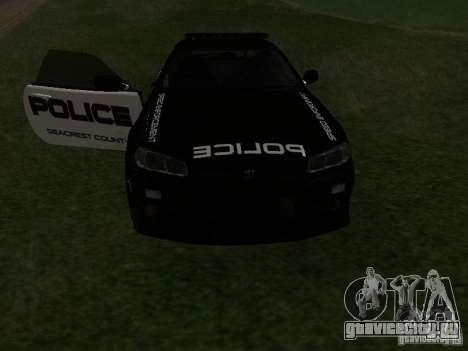 Nissan Skyline R34 Police для GTA San Andreas вид сбоку