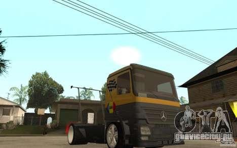 Mercedes Benz Actros Dragster для GTA San Andreas вид сзади