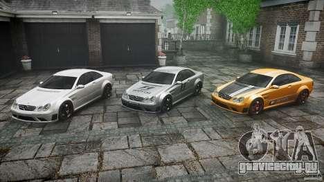 Mercedes Benz CLK63 AMG Black Series 2007 для GTA 4 вид снизу