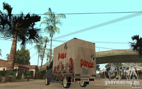 Volkswagen Crafter Ice Dream Box для GTA San Andreas вид сзади слева