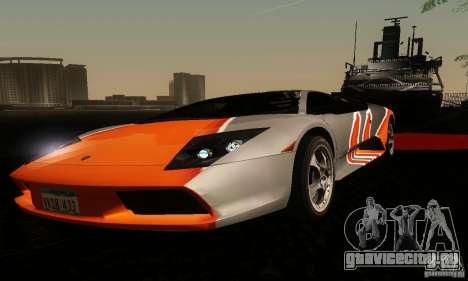 Lamborghini Murcielago для GTA San Andreas вид изнутри