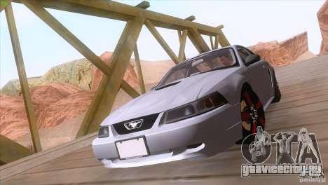 Ford Mustang GT 1999 для GTA San Andreas вид изнутри