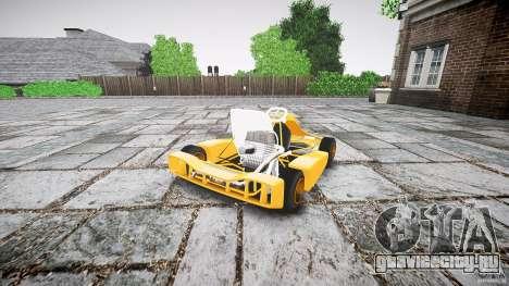 Karting для GTA 4 вид сзади слева