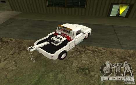 Chevrolet Эвакуатор для GTA San Andreas вид сзади слева