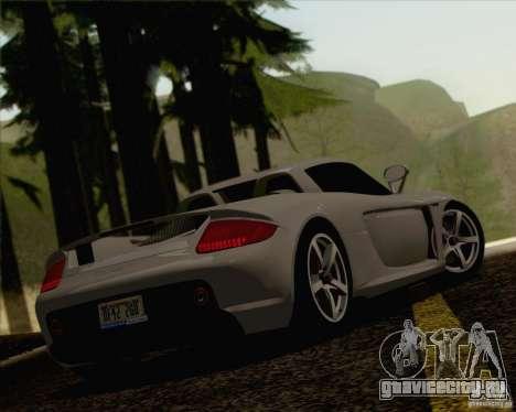 Porsche Carrera GT для GTA San Andreas вид сзади слева