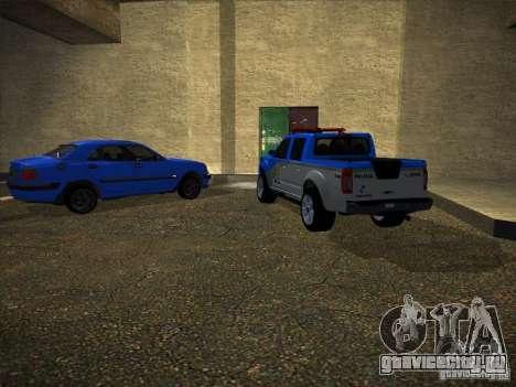Nissan Frontier PMERJ для GTA San Andreas вид справа