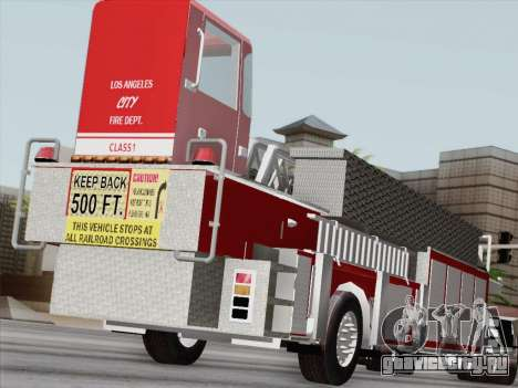 Pierce Arrow XT LAFD Tiller Ladder Trailer для GTA San Andreas вид слева