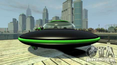 UFO neon ufo green для GTA 4 вид сзади слева