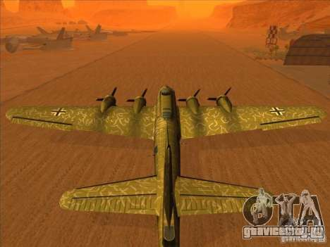B-17G Flying Fortress (Nightfighter версия) для GTA San Andreas вид слева