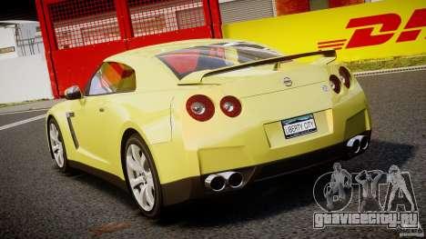 Nissan GT-R R35 2010 v1.3 для GTA 4 вид сзади слева