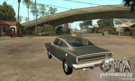 Plymouth Barracuda Formula S 383 1968 для GTA San Andreas вид сзади слева