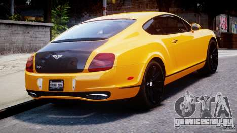 Bentley Continental SS 2010 ASI Gold [EPM] для GTA 4 вид сзади слева