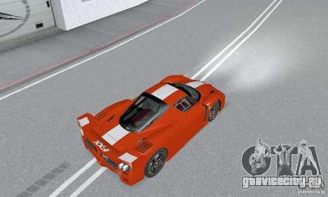 Ferrari FXX для GTA San Andreas вид сзади слева