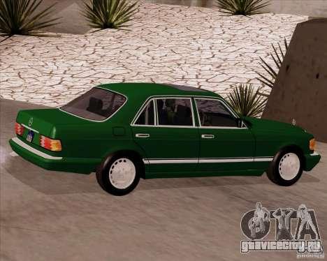 Mercedes-Benz 500SEL для GTA San Andreas вид слева