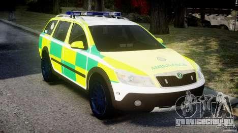 Skoda Octavia Scout Paramedic [ELS] для GTA 4 вид справа