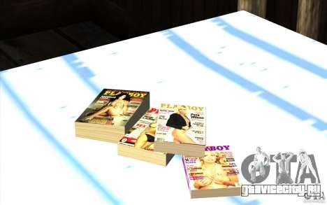 Playboy Magazines для GTA San Andreas третий скриншот