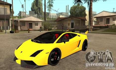 Lamborghini Gallardo LP570 Super Trofeo Stradale для GTA San Andreas