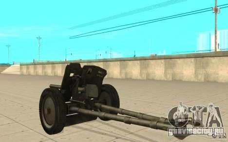 Полковая пушка 53-К 45мм для GTA San Andreas вид сзади слева