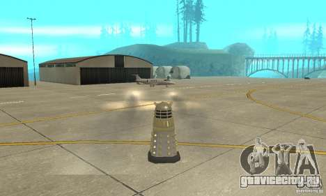 Dalek Doctor Who для GTA San Andreas вид сзади