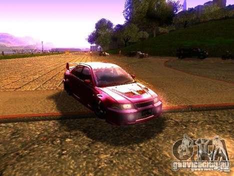 Mitsubishi Lancer Evolution VI GSR 1999 для GTA San Andreas вид сзади слева