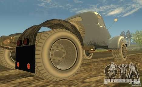 ЗиЛ 164 Тягач для GTA San Andreas вид сзади