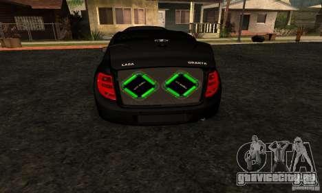 Lada Granta Dag Style для GTA San Andreas вид справа