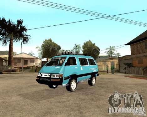 Toyota Town Ace для GTA San Andreas вид справа