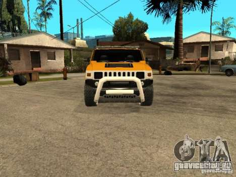 Hummer H2 4x4 diesel для GTA San Andreas вид слева