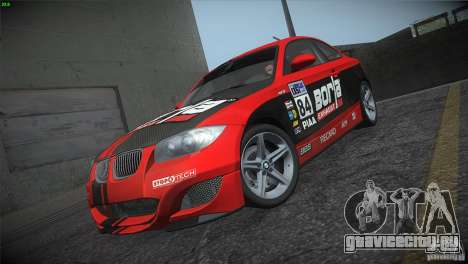 BMW 135i Coupe Road Edition для GTA San Andreas вид снизу