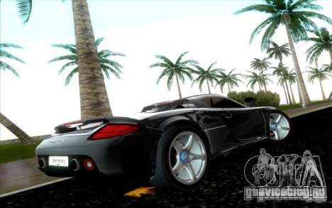 Porsche Carrera GT для GTA Vice City вид справа