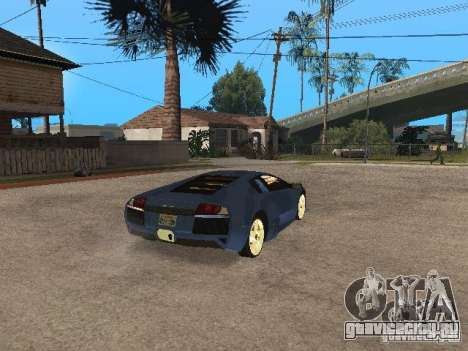 Lamborghini Murcielago LP640 для GTA San Andreas вид сзади слева