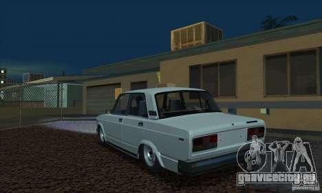 ВАЗ 2107 Аквариум для GTA San Andreas вид слева