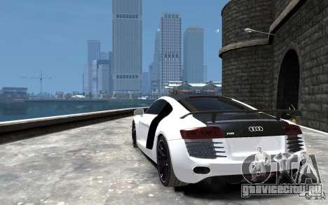 Audi R8 2008 Beta для GTA 4 вид сзади слева