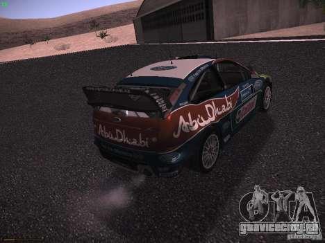 Ford Focus RS WRC 2010 для GTA San Andreas вид сзади слева