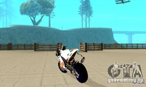 Honda Valentino Rossi Pcj600 для GTA San Andreas вид сзади слева