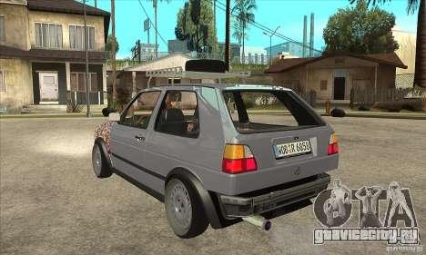 VW Golf Mk2 GTI для GTA San Andreas вид сзади слева