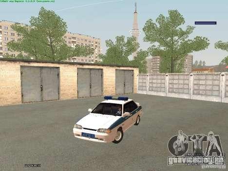 ВАЗ 2115 ППС Полиция для GTA San Andreas вид слева
