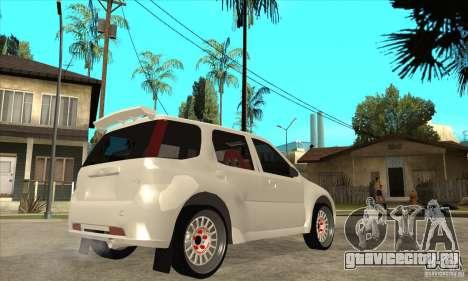 Suzuki Ignis Rally для GTA San Andreas вид справа