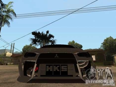 Mitsubishi Lancer Evolution X Drift Spec для GTA San Andreas вид справа